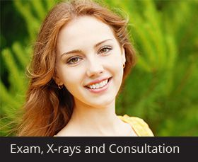 Exam, X-rays and Consultation